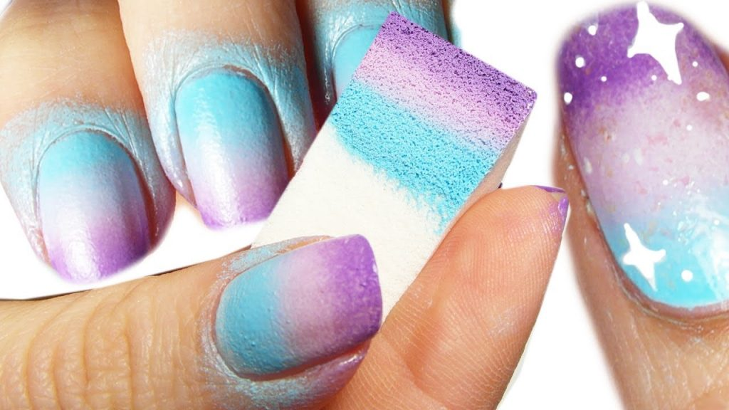 Sponged Ombre Nails