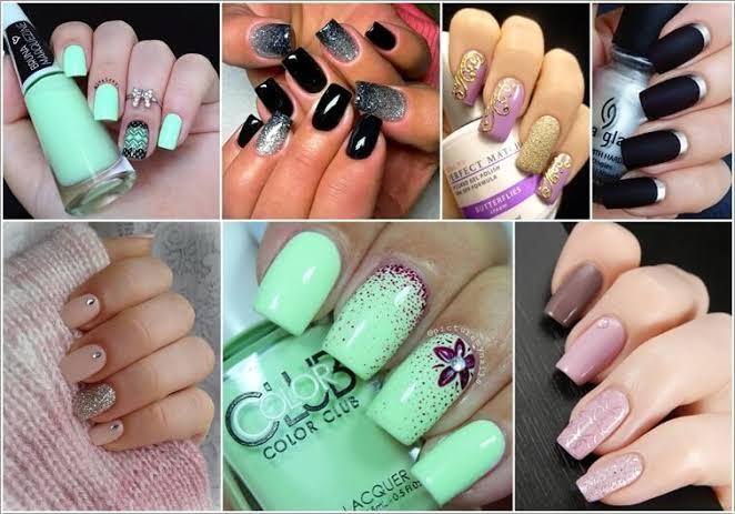 Two-tone Nail Art Design