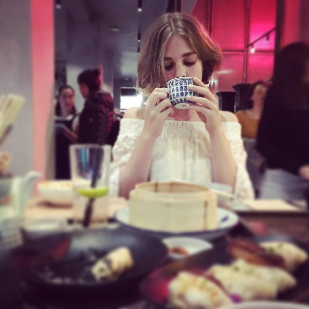 teagan-croft-drinking-tea