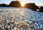 Glass beach sparking