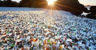 Glass beach sparking